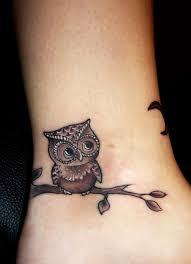 Sovy Tetování Pěšky