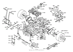 dixon ztr 428 1988 parts diagram for wiring assembly chassis assembly