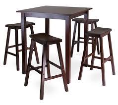 amazoncom winsome's parkland piece square highpub table set