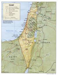 israel map  israel • mappery