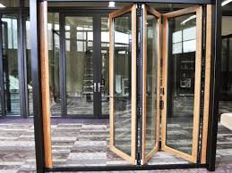 folding glass walls. Inside Solar: Wood Veneer Vinyl-Composite Folding Glass Wall Walls