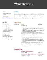 Cleaner CV Example Hashtag CV Cool Cleaner Resume