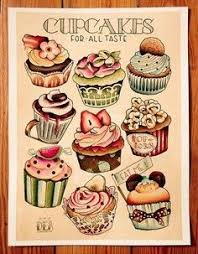 vintage cupcakes drawing. Fine Cupcakes Vintage Cupcakes Drawing And S