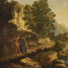 18th century italian landscape oil painting antique oil paintings