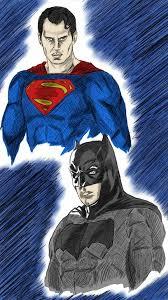 Escolha um destes heróis e pinte utilizando todas as cores que desejar! Batman V Superman In Color By Ahbe87 On Deviantart