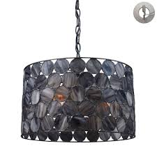 3 pendant light kit. Cirque 3 Light Pendant In Matte Black And Tiffany Glass - Includes Recessed Lighting Kit L