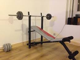 york weights. york fitness gym weight bench and weights y