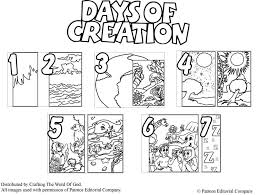Small Picture Days Of Creation Coloring Pages Crafting The Word Of God