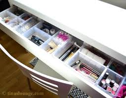 malm dressing table with ikea drawer dividers 2 whole dividers and another with a
