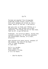 Guilt A Poem By Charlie Hasler Poetry Guilt Quotes