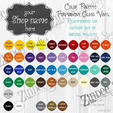 Oracal Vinyl Color Chart Pdf Oracal 651 Digital Color Chart With Space For Your Shop Name