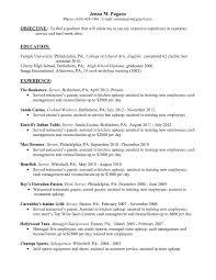 Sample Waitress Resume Inspirational Restaurant Head Waiter Resume