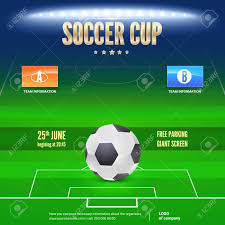 soccer team brochure template soccer event flyer template place your text and emblem of