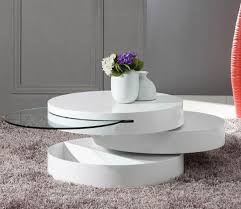 Round Modern Motion Coffee Table Furnitur Modern White Round Coffee Table  Modern White Coffee Table Sets
