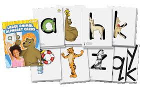 alphabet picture cards large animal alphabet cards zoo phonics