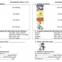 Учитель Сайт учителей немецкого языка part  Цель контрольной работы проконтролировать усвоение лексики по теме Времена года месяцы погода Контрольная работа предназначена для обучающихся 3