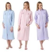 women Ladies Lightweight Zip / BUTTON dressing gown housecoat Robe ... & Image is loading women-Ladies-Lightweight-Zip-BUTTON-dressing-gown -housecoat- Adamdwight.com