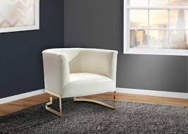 gray and white accent chair.  Chair White Leatherette Accent Chair ArL Ellie For Gray And I
