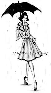 Hayden Williams Fashion Illustrations London Showers By Hayden