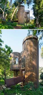 Tree House Architecture Wood Metal Treehouse Is A Modern Gem Nestled Among The Trees