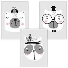 Frechdax Set Di 3 Poster Per La Cameretta Dei Bambini Stampe D