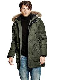 longline hooded jacket guess uk guess guess leather jackets various design