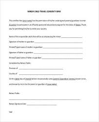 child travel with one parent consent form sample travel consent form 8 free documents in pdf in sample in