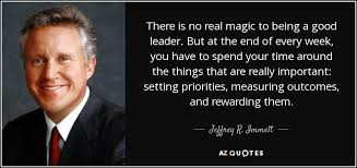 Quotes About Being A Leader New Jeffrey R Immelt Quote There Is No Real Magic To Being A Good