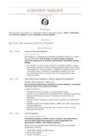 Principal Engineer Sample Resume