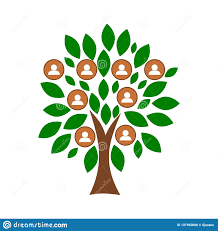 Family Tree Tree Template Family Tree Template With People Icons Stock Vector