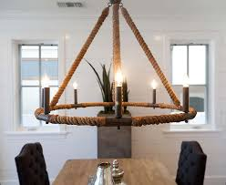 beach house chandelier nautical pendant lighting seafarer style wrapped rop eight coastal decoration dining room romantic