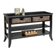 Wonderful Black Sofa Table With Drawers Full Size Of Furniture Homecharming Intended Perfect Ideas