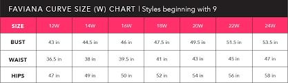 Jordan Bridesmaid Dresses Size Chart Size Chart Faviana