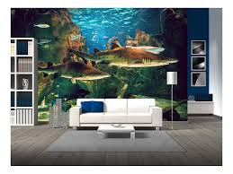 Aquarium Mural Design Wall26 Two White Sharks In Istanbul Aquarium Removable Wall Mural Self Adhesive Large Wallpaper 100x144 Inches