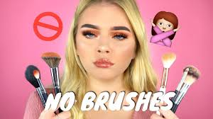 full face using only my fingers no brushes makeup challenge