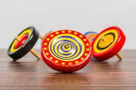 Wooden Spinning Top Game Old Colorful Wooden Spinning Top Toy Stock Image Image of game 59