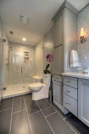 transitional bathroom ideas. Transitional Bathroom Ideas With Herringbone Tile Shower Bench Carrara Marble A