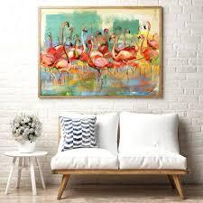 flamingo canvas print flamingo wall art