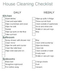 Free Professional House Cleaning Checklist Template