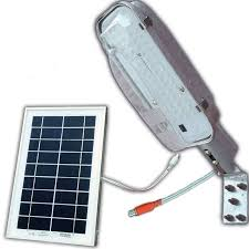 solar led dc street light compaq with built in battery