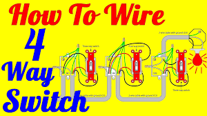 4 way light switch wiring diagram (how to install) youtube four way switch wiring diagram Four Way Switch Wiring Diagram #25