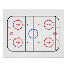 ice rink diagram gifts   ice rink diagram gift ideas on zazzle caice rink diagram hockey game companion poster