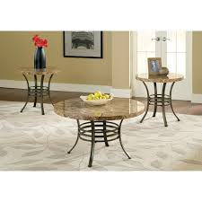 Steve Silver Ellen Round Faux Marble 3 Piece Coffee Table Set | Hayneedle