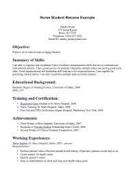 Nursing Student Resume Nursing Student Resume Template Simple