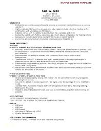 Cna Resume No Experience Template Amazing Objective On A Cna Resume Examples With Resume Examples Sample