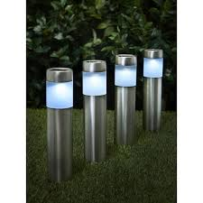 wilko garden solar lighting posts 4pk image 1