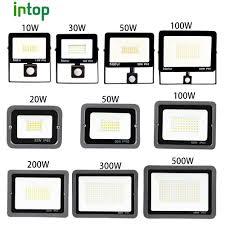 Đèn Pha LED Cảm Biến Chuyển Động Cảm Biến Đèn Led 10W 20W 30W 50W 100W 150W  200W 300W500W Ánh Sáng Ngoài Trời Chống Nước IP66 Đèn Trợ Sáng|Đèn Pha