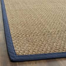 enchanting sisal outdoor rugs hand woven sisal natural blue seagrass rug 8 x 10 rugs houzz