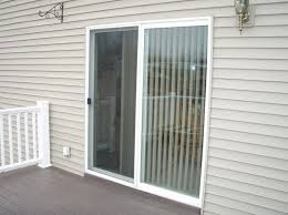 Double Panel Sliding Glass Patio Doors With White Aluminum Frame