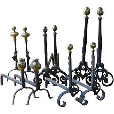 antique french andirons or firedogs in good condition for in amerongen nl